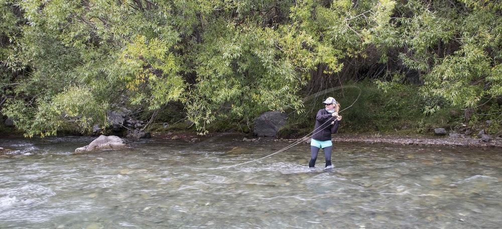 Female Angler Fly Fishing
